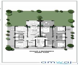 chalet 111meter with 95 meter pivate garden at amwaj north coast ‎ج.م.1,690,000‎