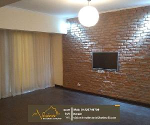fully renovated 4BR apartment for rent in Maadi Degla Large reception with