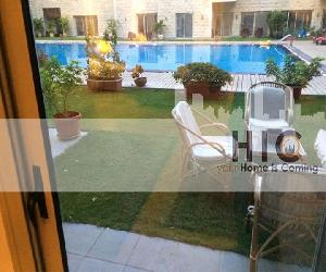 For Rent.. A Ground floor apartment.. Maadi El- Sarayat.. Modern Compound.. 3